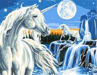 Click for more details of Magical Unicorn (tapestry) by Grafitec