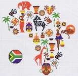 Click for more details of Map of Africa (cross stitch) by Marie Coeur