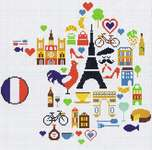 Click for more details of Map of France (cross stitch) by Marie Coeur