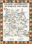 Click for more details of Map of the Inland Waterways of England and Wales (cross stitch) by Sue Ryder
