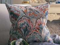 Click for more details of Marbled Cushion (tapestry) by Glorafilia