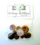 Click for more details of Mauve Vintage Buttons x10 (buttons and brads) by Elizabeth Grace