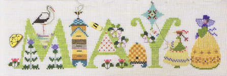 Click for more details of May (cross-stitch pattern) by The Cross-Eyed Cricket