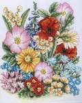Click for more details of Meadow Flowers (cross stitch) by Anchor