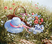 Click for more details of Meadow with Poppies (cross stitch) by Luca - S