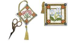 Click for more details of Medieval Garden Stitcher's Accessories Set (cross stitch) by Textile Heritage
