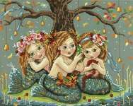 Click for more details of Mermaids (cross stitch) by Merejka