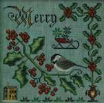 Click for more details of Merry and Bright (cross stitch) by Cottage Garden Samplings