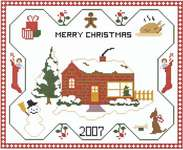 Click for more details of Merry Christmas Sampler (cross-stitch pattern) by Kappie Originals
