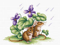 Click for more details of Mice (cross stitch) by Luca - S