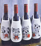 Click for more details of Milk Cow Wine Bottle Aprons (cross stitch) by Permin of Copenhagen