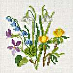 Click for more details of Mini Picture Spring Garden (cross stitch) by Eva Rosenstand