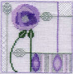 Click for more details of Minuets - Leaves and Rose (cross stitch) by Rose Swalwell