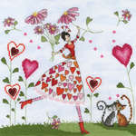 Click for more details of Miss Heart (cross stitch) by Bothy Threads