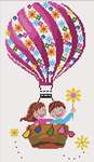 Click for more details of Montgolfière Fleurie ( Flowery Balloon) (cross stitch) by Princesse