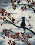 Click for more details of Moon Cat (cross stitch) by Oven Company