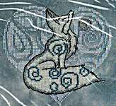 Click for more details of Moonglow - Arctic Fox (cross stitch) by MarNic Designs