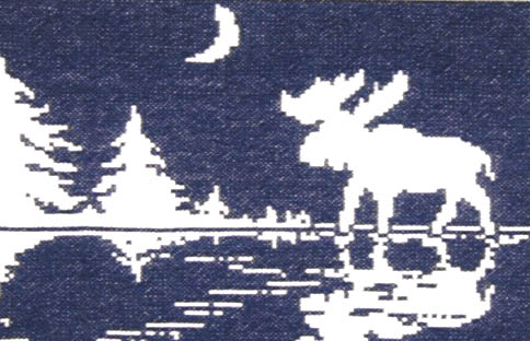 Click for more details of Moose Silhouette (cross stitch) by The Stitchworks