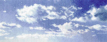 Click for more details of Morning Sky with Cirrus Clouds (cross stitch) by Thea Gouverneur
