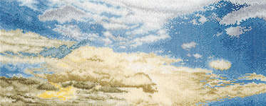 Click for more details of Morning Sky with Cumulus Clouds (cross stitch) by Thea Gouverneur