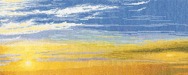 Click for more details of Morning Sky with Stratus Clouds (cross stitch) by Thea Gouverneur