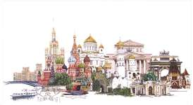 Click for more details of Moscow (cross-stitch kit) by Thea Gouverneur