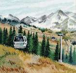 Click for more details of Mount Chimbulak (cross stitch) by Oven Company