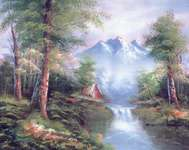Click for more details of Mountain Cascades (tapestry) by Grafitec