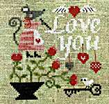 Click for more details of Mouse's Love Letter (cross stitch) by Tiny Modernist