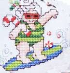 Click for more details of Mrs Claus Tropical Christmas (cross-stitch pattern) by Stoney Creek