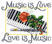 Click for more details of Music is Love (cross stitch) by Imaginating