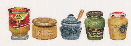 Click for more details of Mustard Pots (cross stitch) by Thea Gouverneur