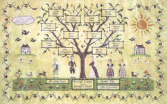 Click for more details of My Family Tree (cross-stitch pattern) by Willow Hill Samplings