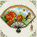 Click for more details of Nasturtium Fan (cross stitch) by Needleart World