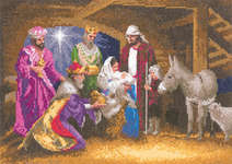 Click for more details of Nativity (cross stitch) by John Clayton