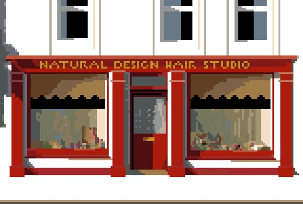 Click for more details of Natural Design Hair Studio (cross stitch) by Anne Peden