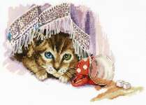 Click for more details of Naughty Cat (cross stitch) by Panna