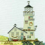 Click for more details of New England : The Lighthouse (cross stitch) by Bothy Threads