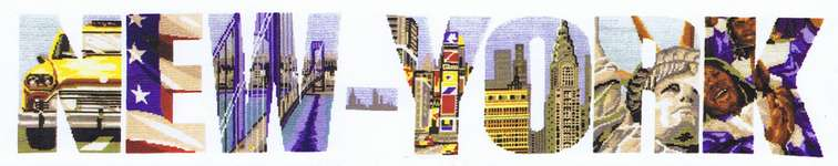 Click for more details of New - York (cross stitch) by Marie Coeur