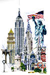 Click for more details of New York (cross stitch) by Thea Gouverneur