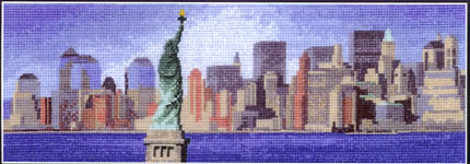 Click for more details of New York Skyline (cross-stitch kit) by John Clayton