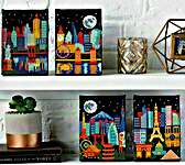 Click for more details of Night Skylines (cross stitch) by Tiny Modernist