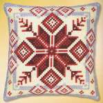 Click for more details of Nordic Snowflake Cushion Front (tapestry) by Vervaco