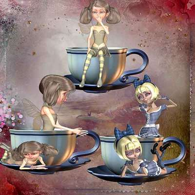 Click for more details of Not my Cup of Tea 2 (digital downloads) by DawnsDesigns