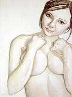 Click for more details of Nude 4 (watercolour) by Julie Peden