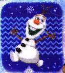 Click for more details of Olaf Rug (latch hook) by Disney by Vervaco