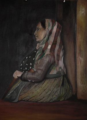 Click for more details of Old Beggar Woman (watercolour on paper) by Abhilasha Singh