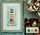 Click for more details of One if by the Sea (cross stitch) by The Cross-Eyed Cricket