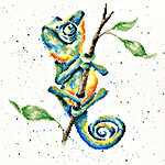 Click for more details of One in a Chameleon (cross stitch) by Bothy Threads