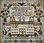 Click for more details of One Nation Under God (cross stitch) by Twin Peak Primitives